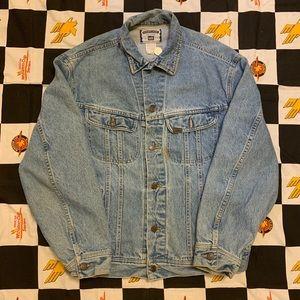 Vintage Lee Sports Jean Jacket Size Large 90s